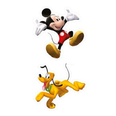 Mickey mouse en Pluto mini foam elementen