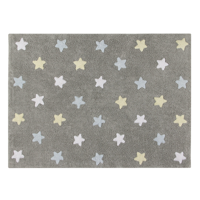 Lorena Canals vloerkleed Star Tricolor grey/blue