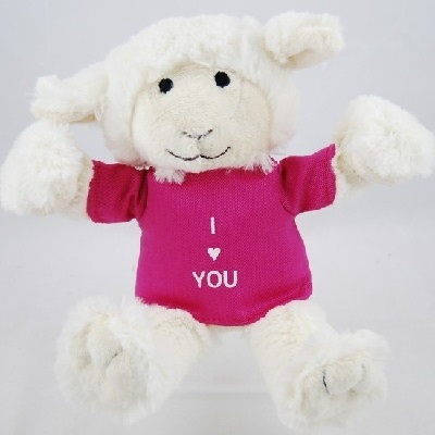 K-Nuffie knuffel I Love You roze