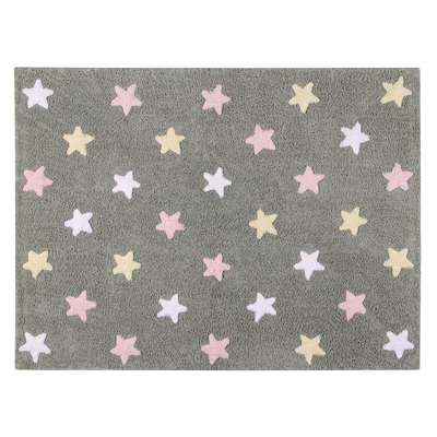 Lorena Canals vloerkleed Star Tricolor grey/pink
