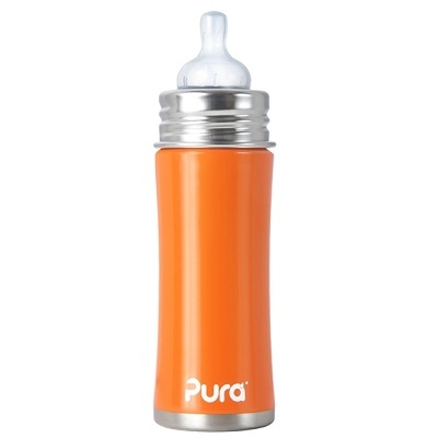 Pura Kiki speenfles 325 ml Oranje