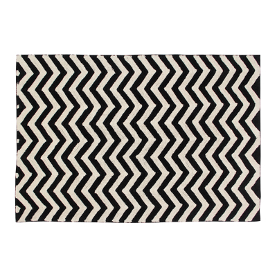 Lorena Canals vloerkleed Zigzag black
