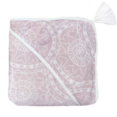 Witlof for kids badcape Little Lof Misty pink-wit