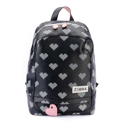 Zebra Trends rugzak Crossed Hearts