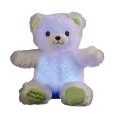Knuffel nachtlamp Gaston de teddybeer mini