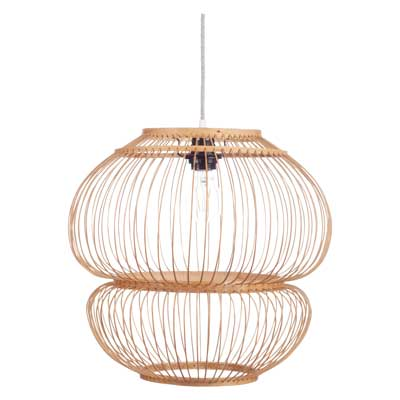 Bubble Hanglamp Bamboe Naturel