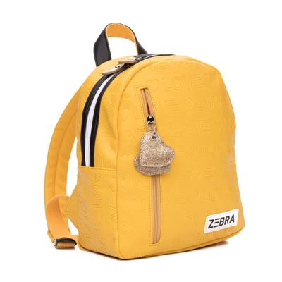 Zebra Trends rugzak Love Yellow