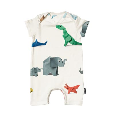 Playsuit Baby Paper Zoo