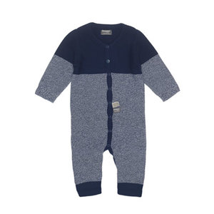 Snoozebaby Suit Knitted Indigo Blue