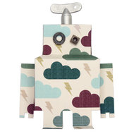 Muursticker Robot Donderwolk large